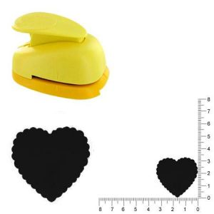 Artémio Grande perforatrice - Cœur ondulé - 3.3 cm