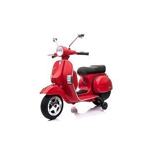 RunRun Toys Scooter Électrique 12V - Vespa - Rouge