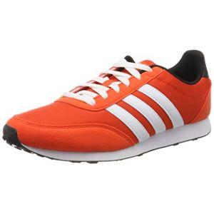 Adidas V Racer 2.0, Chaussures de Running Homme, Active Orange/FTWR White/Core Black, 41 1/3 EU