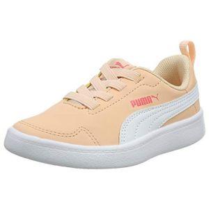 Puma Courtflex PS, Baskets Mixte Enfant,Rose (Peach Parfait White 24), 35 EU