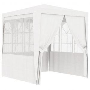 VidaXL Tente de réception avec parois latérales 2,5x2,5m Blanc 90 g/m²