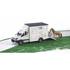 Bruder Toys Camion à chevaux Mercedes Benz Sprinter