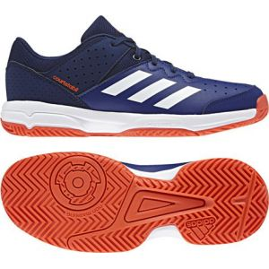 Adidas Court Stabil Jr, Chaussures de Handball Mixte Enfant, Multicolore (Tinmis/Ftwbla/Azuosc 000), 36 2/3 EU