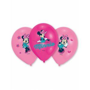6 ballons en latex Minnie