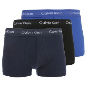 Calvin Klein Homme Paquet de 3 Troncs de Faible Hauteur, Bleu, Small