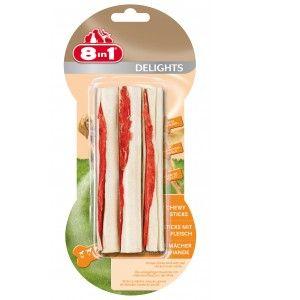 8in1 Delights Sticks à mâcher au poulet - Sac 3 pièces