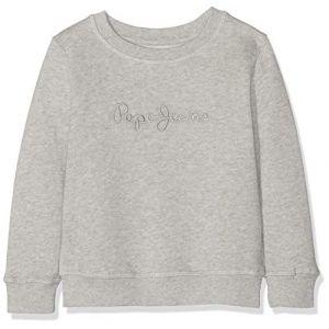 Pepe Jeans Crew Neck Boys Sweat-Shirt Gris (Grey Marl 933) 15-16 Ans (Taille Fabricant:16) Garçon