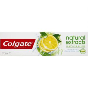 Colgate Natural Extracts - Dentifrice fraîcheur ultime citron aloe vera