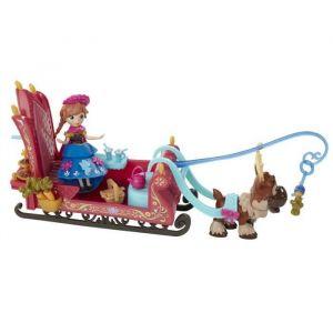Hasbro La Reine des Neiges - Mini Poupée Anna traineau de Sven