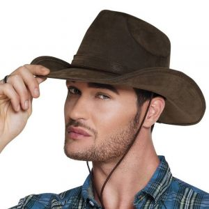 "Chapeau de Cow Boy ""Utah"" Marron Homme"