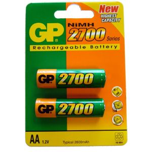 GP Batteries 2 piles rechargeables AA 2600 mAh