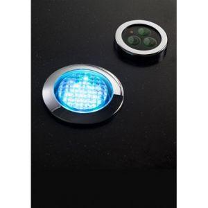 Image de Desineo Spot RGB ip68 etanche encastrable + bouton de contrôle et transformateur pour hammam et salle de bain