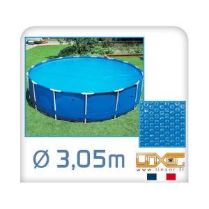 Linxor Bâche à bulles ronde 180 microns pour piscine Ø 3,05 m