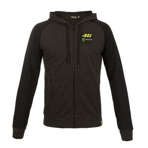 VR46 Sweat zip capuche Valentino Rossi Dual Monster gris 2018 - 2XL