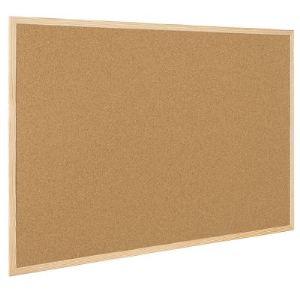 Bisilque REC0401233 - Tableau liège recyclable cadre en bois (45 x 60 cm)