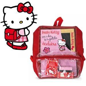 Jeujura Sac à dos avec ardoise Hello Kitty