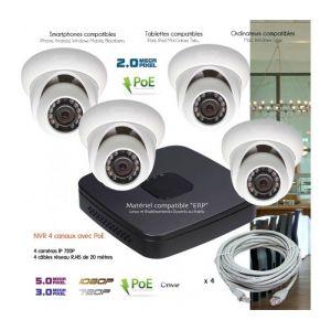 syst me ip de video surveillance ip avec 4 cam ras d mes. Black Bedroom Furniture Sets. Home Design Ideas