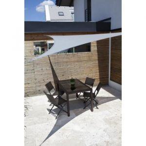 Windhager Voile ombrage Sunsail Adria triangulaire 5m - Granit - En tissu HDPE 185/m² avec biais - Protection 90% contre le UV - Indéchirable - Coloris :granit.