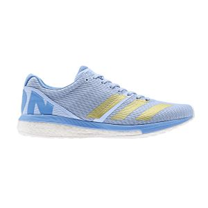Adidas Adizero Boston 8 W, Chaussures de Running Femme, Bleu Glow Gold Met./Real Blue, 39 1/3 EU