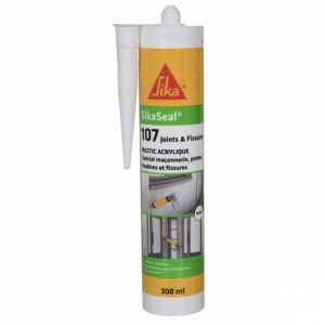Sika Mastic acrylique Seal 107 Joints et fissures 300ml - blanc