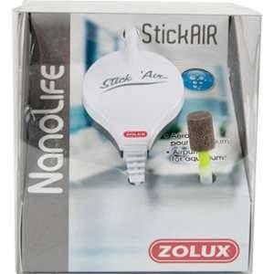 Zolux Aérateur stickair blanc pour aquarium jusqu'à 25 L