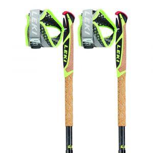 Leki Bâtons de randonnée Micro Trail Pro - Neon Red / Dark Red / Grey / White / Neon Yellow - Taille 130 cm