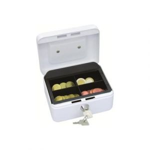 Wedo 145100X Caissette à monnaie à 4 compartiments 15 2 x 11 5 x 8 cm Blanc