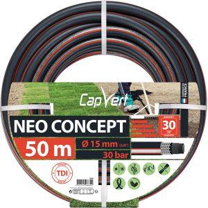 Cap Vert Tuyau d'arrosage Néo Concept - Diamètre 15 mm - Longueur 50 m