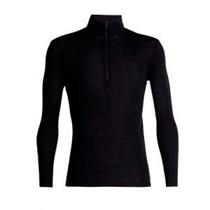 Icebreaker Vêtements intérieurs 175 Everyday L/s Half Zip - Black - Taille M