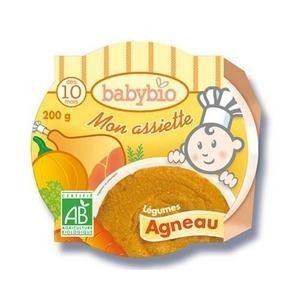 BabyBio Mon p'tit Plat :  Mijoté de petits légumes et d'Agneau 230g - dès 12 mois
