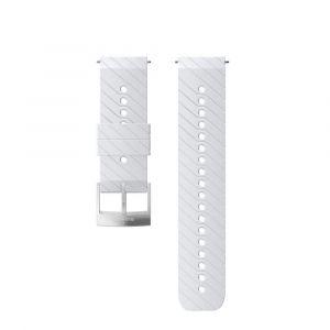 Suunto Pièces détachées Athletic 3 Silicone Strap - White / Steel - Taille One Size