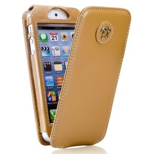 Issentiel Housse pour iPhone 5/5S Cuir Camel - Collection Tradition