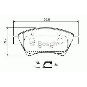Bosch BP926 - Jeu de 4 plaquettes de frein à disque
