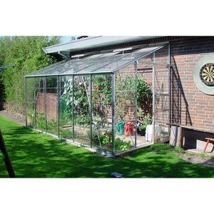 Juliana Royal 608 - Serre adossée de 4.85 m² en verre clair jardinier