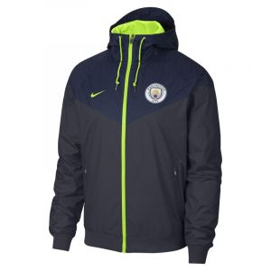 Nike Veste Manchester City FC Windrunner pour Homme - Bleu - Couleur Bleu - Taille XL