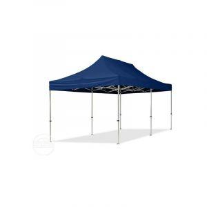 Intent24 TOOLPORT Tente Pliante 3x6 m - 2 côtés Aluminium Barnum Chapiteau Pliant Tonnelle Stand Paddock Réception Abri PES300 Bleu