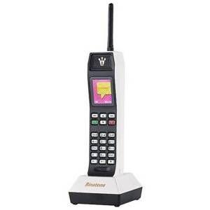 Binatone The Brick Power Edition - Téléphone Portable au Design Rétro - Blanc
