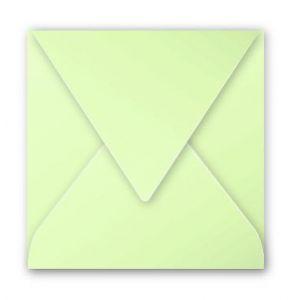Pollen 12040C - Enveloppe 120x120, 120 g/m², coloris vert bourgeon, en paquet cellophané de 20