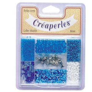 Kim'play KIMPLAY Kit perles en verre - Bleu