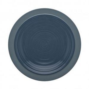 Guy Degrenne Assiette plate ronde 23cm bleu de roche en grès - A l'unité - Bahia