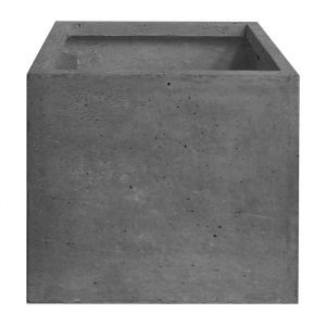 Pot cubique lisse 40 x 40 x 40 cm Gris anthracite