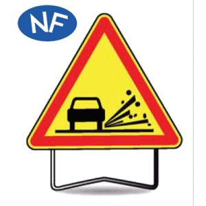 Taliaplast 522007 - Panneau signalisation danger gravier ak22 t1 1000mm