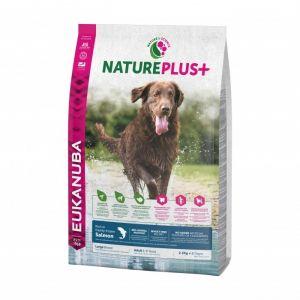 Eukanuba Natureplus - Croquettes avec saumon pour chien adulte de grande race - Sac 2,3 kg
