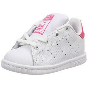 Adidas Stan Smith Bébé Blanche Et Rose Iridescent Baskets/Tennis Bébé