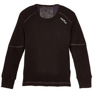 Image de Odlo T- ML Active X-Warm Originals Enfan t- t-Shirt Manches Longues Enfant Extra Chaud Mixte, Black, FR : M (Taille Fabricant : 140)