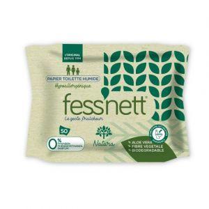 Fess'Nett Papier toilette humide, hypoallergénique x 50