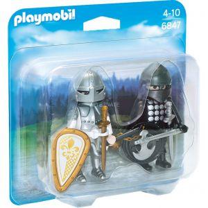 Playmobil 6847 - Chevalier noir et Chevalier d'argent