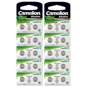 Camelion 20 LR44 / A76 / AG13 pile bouton, longue durée de conservation (date d'expiration marque)
