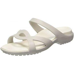Crocs Meleen Twist, Femme Sandales, Blanc (Pearl White/Oyster), 41-42 EU