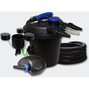 Kit filtration b in à pression 6000l 11W UVC 10W Pompe Tuyau Skimmer